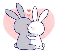 Lovey-dovey rabbit (English) sticker #4976012