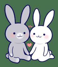 Lovey-dovey rabbit (English) sticker #4976013