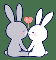 Lovey-dovey rabbit (English) sticker #4976014