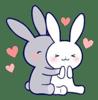 Lovey-dovey rabbit (English) sticker #4976017