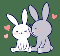 Lovey-dovey rabbit (English) sticker #4976020