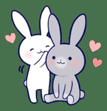 Lovey-dovey rabbit (English) sticker #4976021