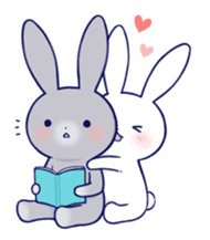 Lovey-dovey rabbit (English) sticker #4976023