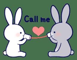 Lovey-dovey rabbit (English) sticker #4976024