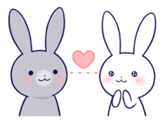 Lovey-dovey rabbit (English) sticker #4976025