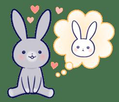 Lovey-dovey rabbit (English) sticker #4976029