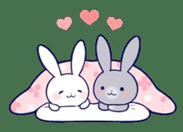 Lovey-dovey rabbit (English) sticker #4976033