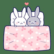 Lovey-dovey rabbit (English) sticker #4976034