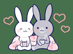 Lovey-dovey rabbit (English) sticker #4976035