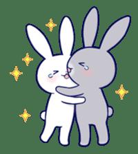 Lovey-dovey rabbit (English) sticker #4976036