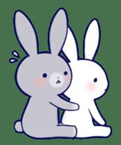 Lovey-dovey rabbit (English) sticker #4976038