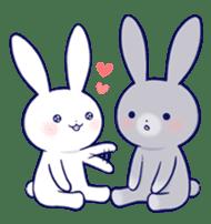 Lovey-dovey rabbit (English) sticker #4976039