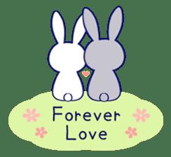 Lovey-dovey rabbit (English) sticker #4976040