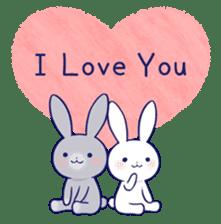 Lovey-dovey rabbit (English) sticker #4976041
