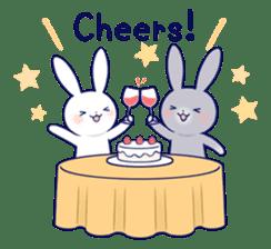 Lovey-dovey rabbit (English) sticker #4976042