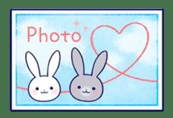 Lovey-dovey rabbit (English) sticker #4976043