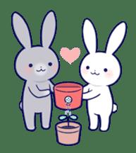 Lovey-dovey rabbit (English) sticker #4976044