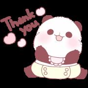 สติ๊กเกอร์ไลน์ Yururin Panda: Baby Edition