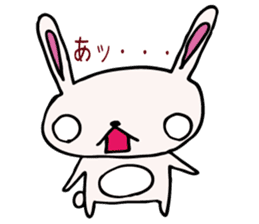 Drooping eyes bunny sticker #4992122