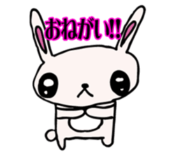 Drooping eyes bunny sticker #4992127