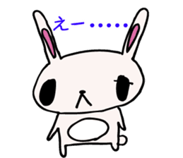 Drooping eyes bunny sticker #4992137