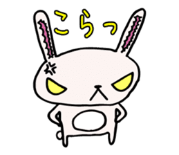 Drooping eyes bunny sticker #4992144
