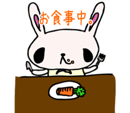 Drooping eyes bunny sticker #4992145