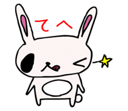 Drooping eyes bunny sticker #4992152