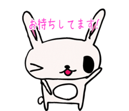Drooping eyes bunny sticker #4992155