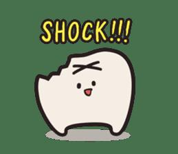 follow me Mr.molar! sticker #4993289