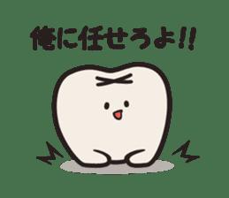 follow me Mr.molar! sticker #4993296