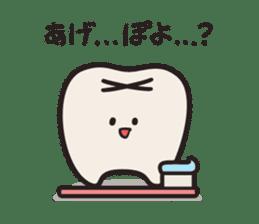 follow me Mr.molar! sticker #4993297
