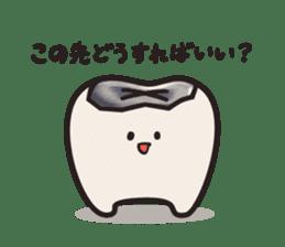 follow me Mr.molar! sticker #4993299