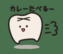 follow me Mr.molar! sticker #4993307