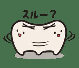 follow me Mr.molar! sticker #4993308