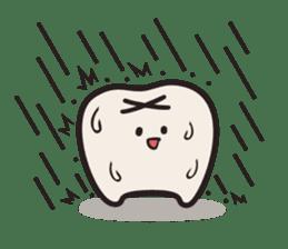 follow me Mr.molar! sticker #4993310
