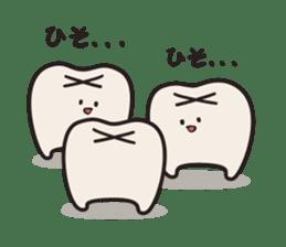 follow me Mr.molar! sticker #4993311