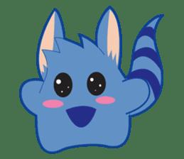 Jubi the Blue Mammal sticker #4998315