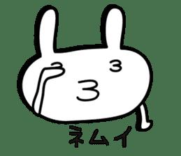 Simple emoticon rabbit sticker #4999760