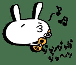 Simple emoticon rabbit sticker #4999762