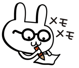 Simple emoticon rabbit sticker #4999775