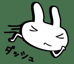 Simple emoticon rabbit sticker #4999776
