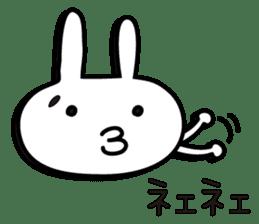 Simple emoticon rabbit sticker #4999779