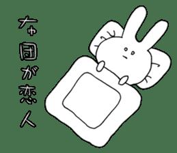Feeling of the white rabbit sticker #5003235