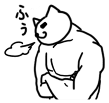 WELL-MUSCLED CAT sticker #5013150
