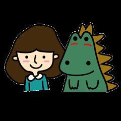 TINY & FRED the dinosaur