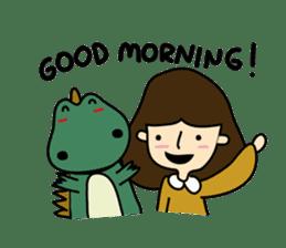 TINY & FRED the dinosaur sticker #5017383