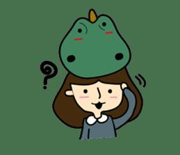 TINY & FRED the dinosaur sticker #5017388