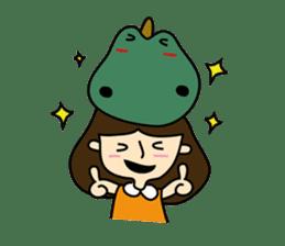 TINY & FRED the dinosaur sticker #5017389