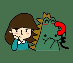 TINY & FRED the dinosaur sticker #5017390